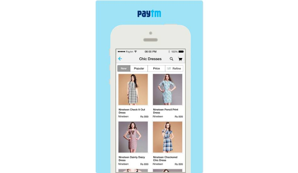 Paytm launches mobile shopping app
