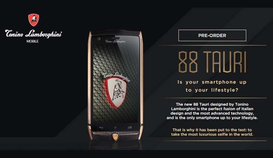 Lamborghini 88 Tauri Smartphone Launched For Rs 3 6 Lakhs
