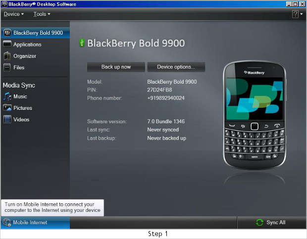 How to tether BlackBerry with laptop/PC