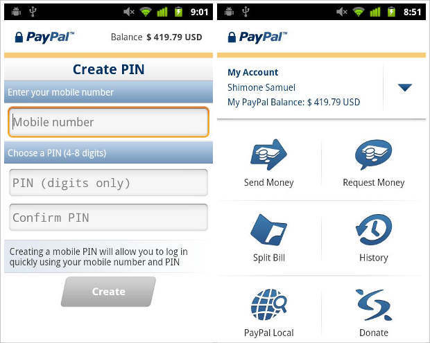 Apart from the cosmetic update, the PayPal app brings the new NFC payment  widget that allows users to transfer money by simply tapping two NFC  enabled ...