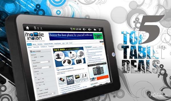 Top 5 online tablet deals