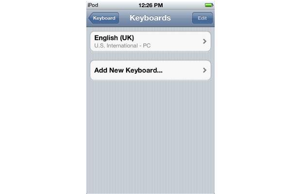 How To enable Hindi on native keyboard of iOS 5
