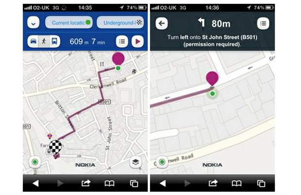 Nokia Maps brings Walk Navigation to iOS, Android browsers