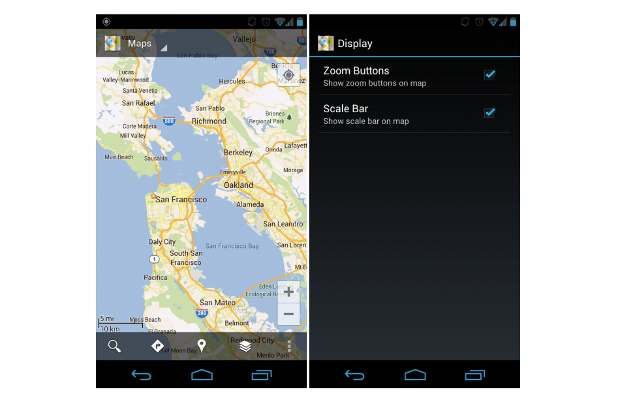 Google Maps for Android gets zoom buttons, scale bar