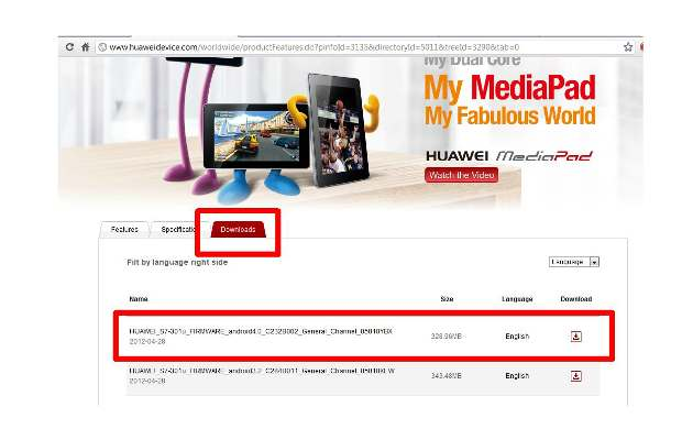 How to upgrade Huawei MediaPad to Android ICS