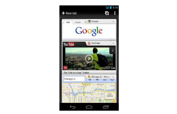 Google Chrome for Android ICS