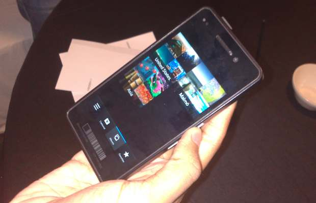 First look: BlackBerry OS 10 alpha device