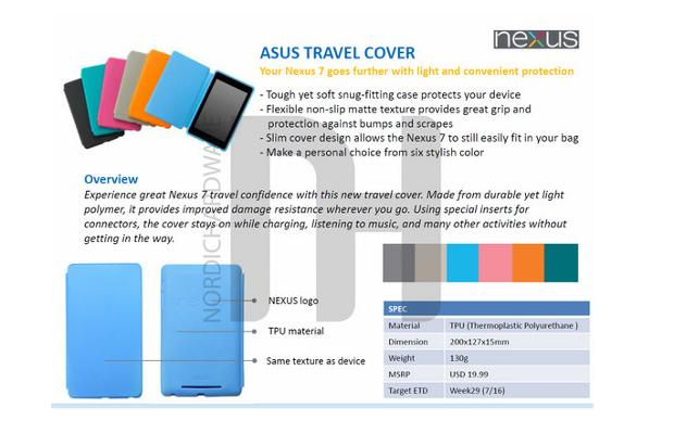 Details Of Official Google Nexus 7 Tablet Accessories Leaked