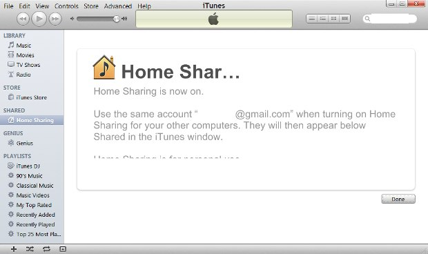 How to set up home sharing to watch videos