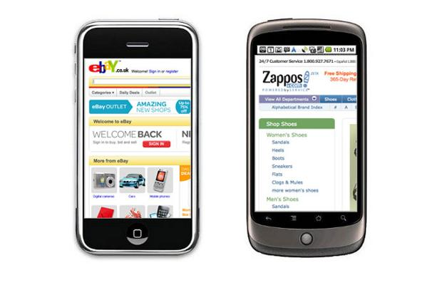 Online shopping through mobiles