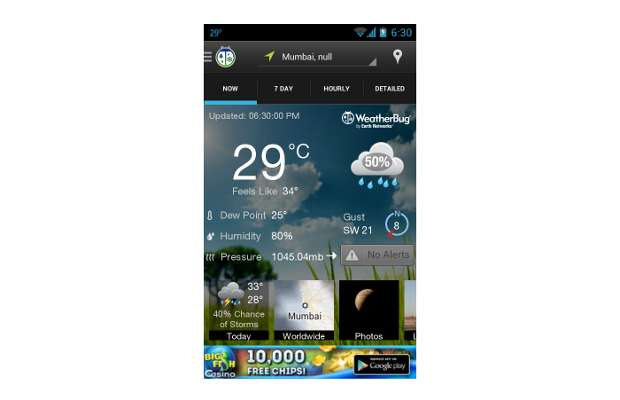 Top 5 free weather apps for Android smartphones