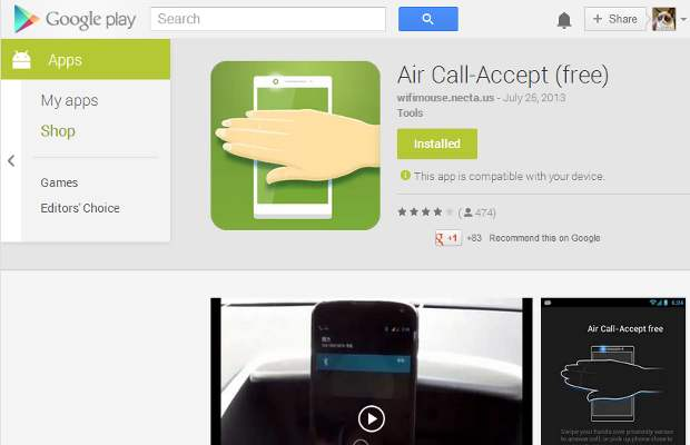 How to accept call on Android devices using gesture control