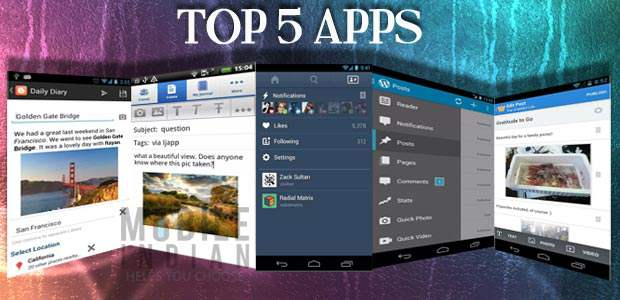 top five apps