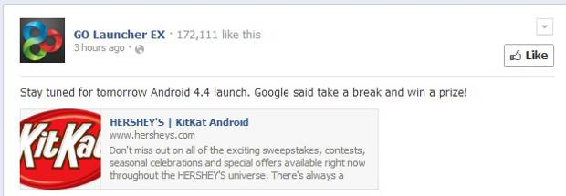 Google to launch Android 4.4 KitKat on October 26