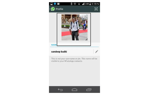 How to change profile picture and status