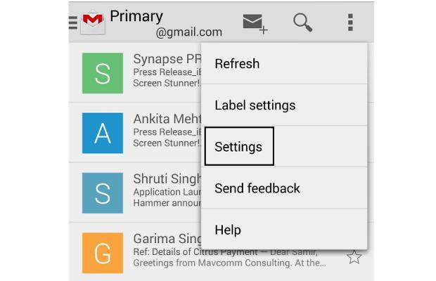 How to stop all inline images in Gmail app