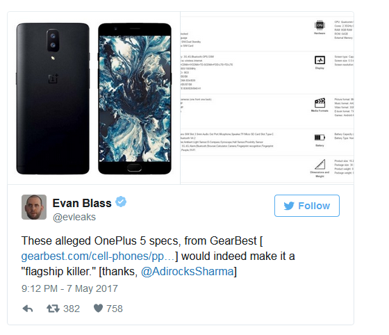 OnePlus 5 Confirmed Window Release Date Revealed