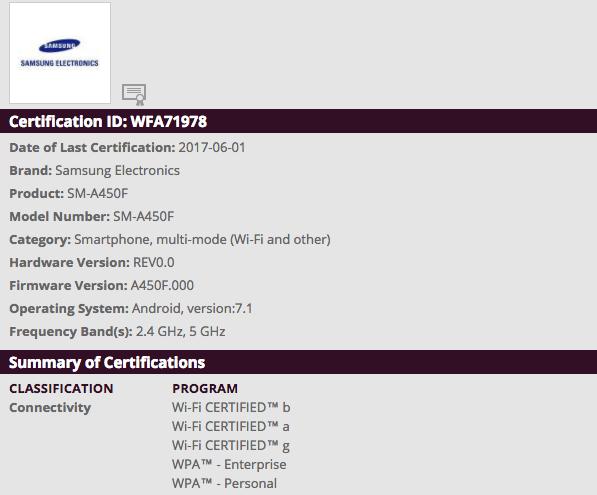 Samsung SM-A450F