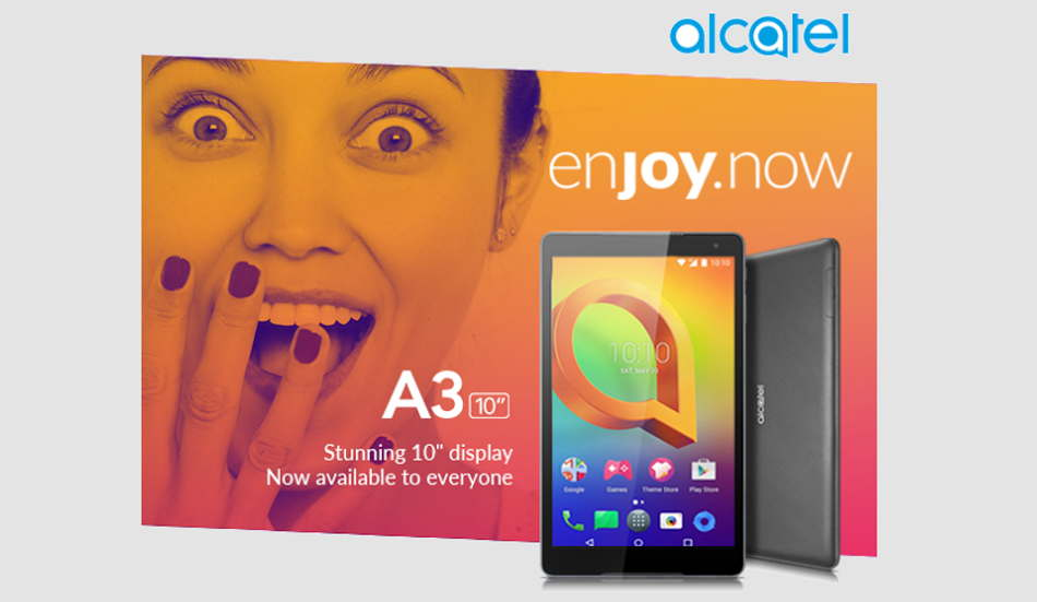 Alcatel A3 10 tablet with Android Nougat launched in India for Rs 9,999