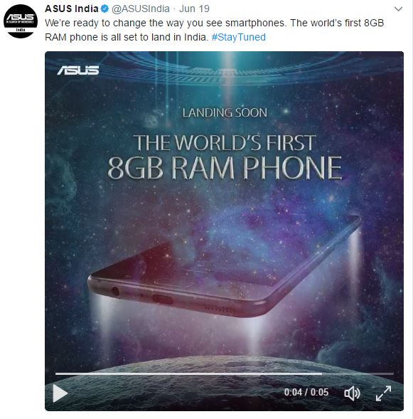 Asus Zenfone AR 'Coming Soon' to India, teasers shared over Twitter