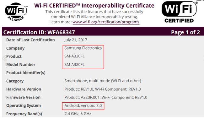 Samsung Galaxy A3 (2017), J7 (2016)