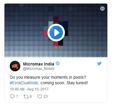 Micromax Evok Dual Note