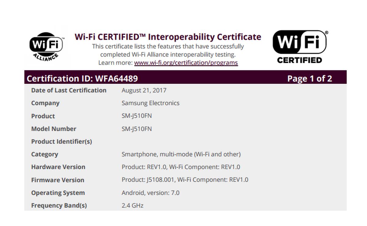 Samsung Galaxy Tab A 8.0 (2017) gets TENAA certified