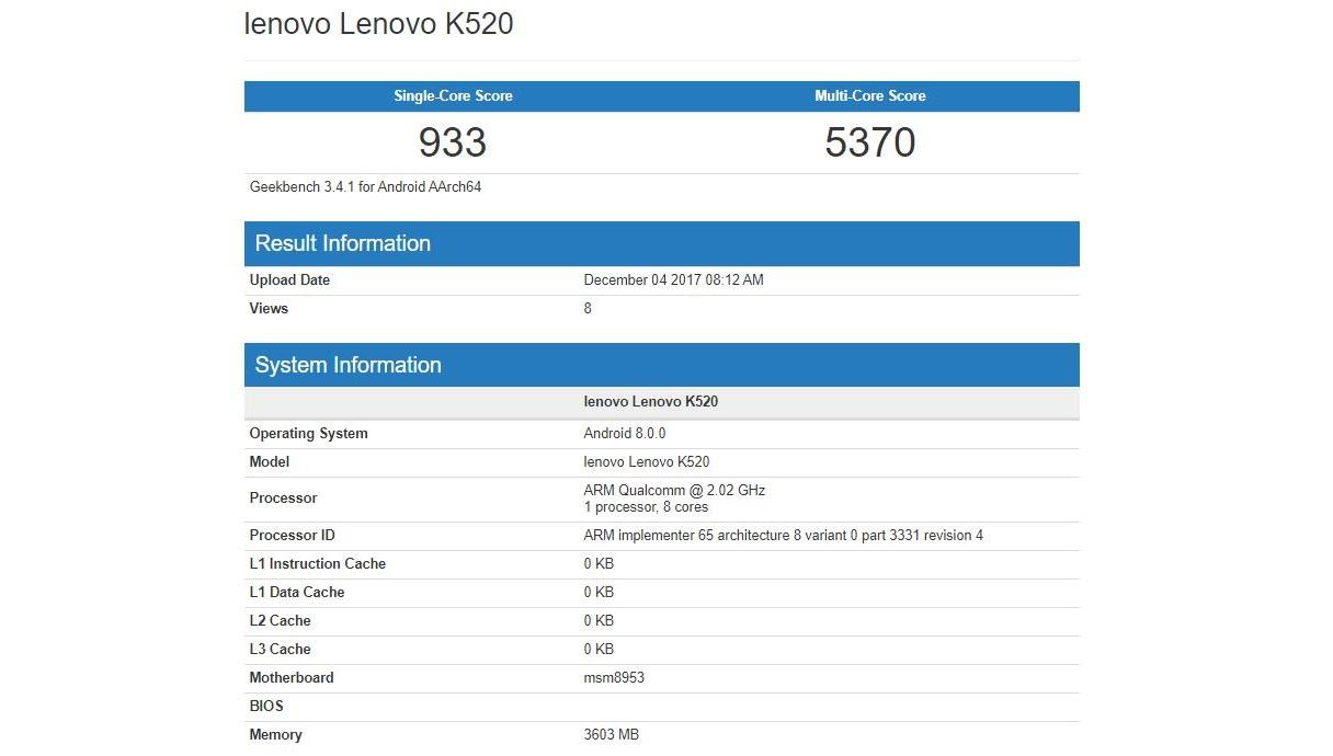 Lenovo K520
