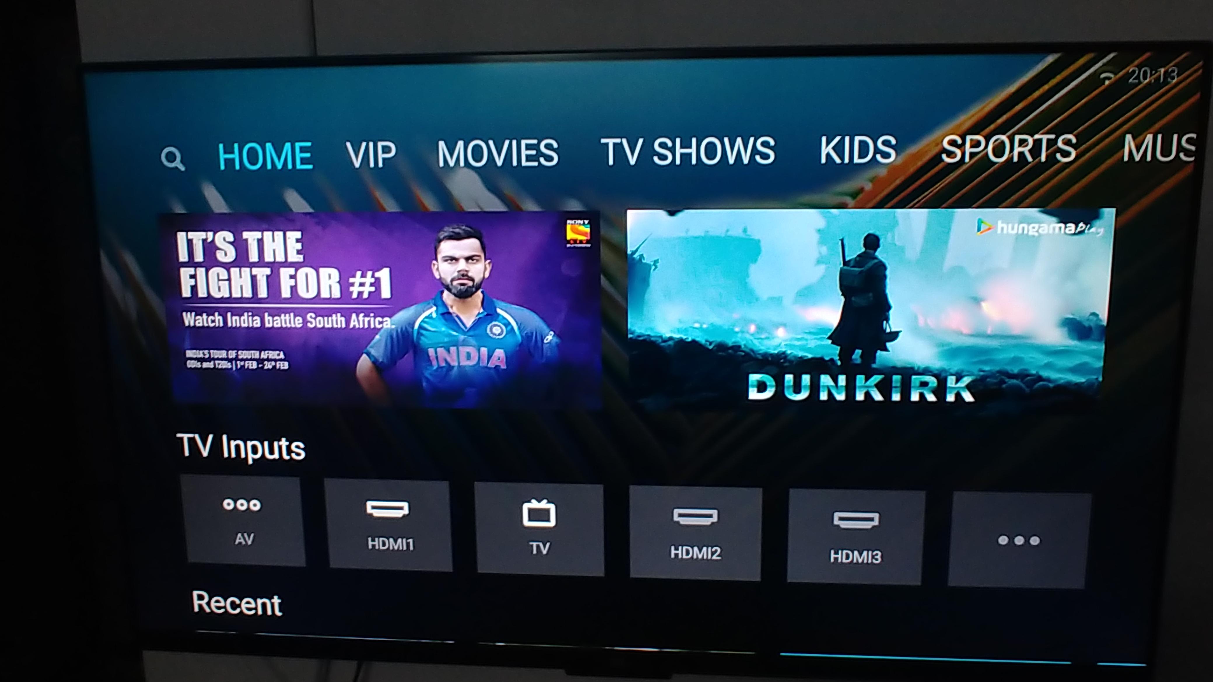 Xiaomi MI TV 4 UI