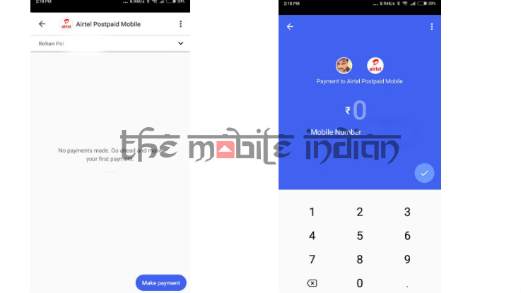 How to pay utility bills using Google Tez