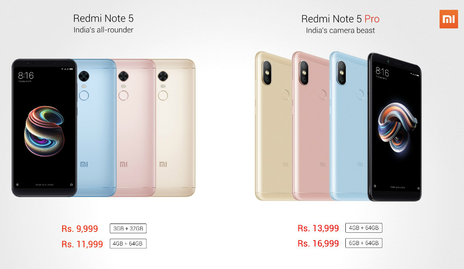 Xiaomi Redmi Note 5 Pro and Redmi Note 5