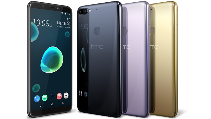 HTC Unveils Budget Desire 12 and 12 Plus with Liquid Surface Design