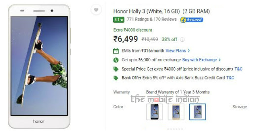 Honor Holly 3 price slashed in India by upto Rs 5,500