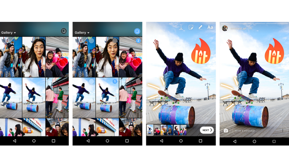 You can now upload multiple photos/videos to Instagram Stories at once