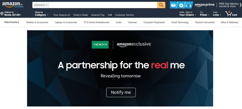 Oppo Amazon partnership