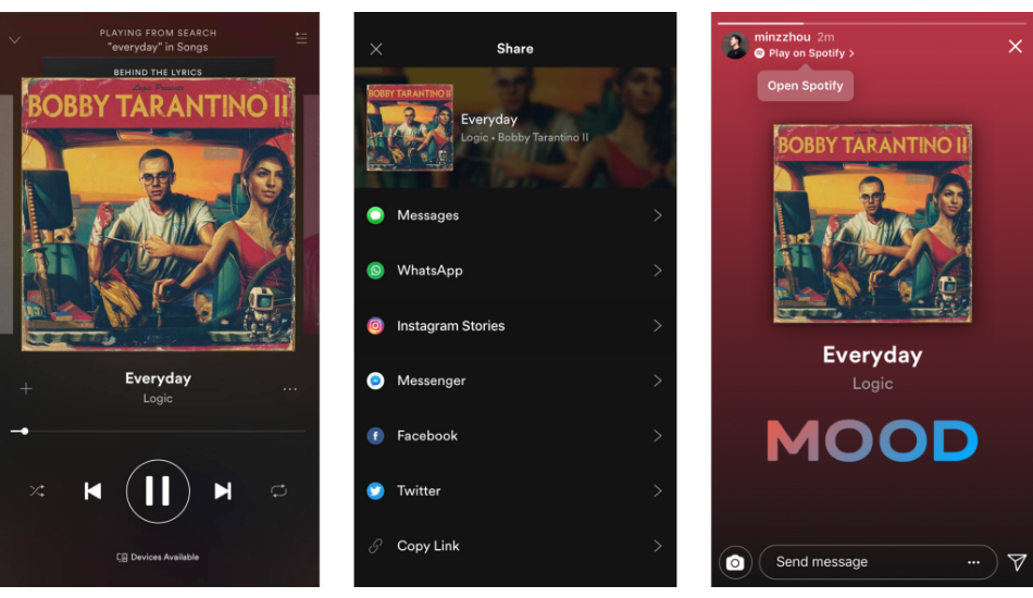 Instagram Spotify Integration