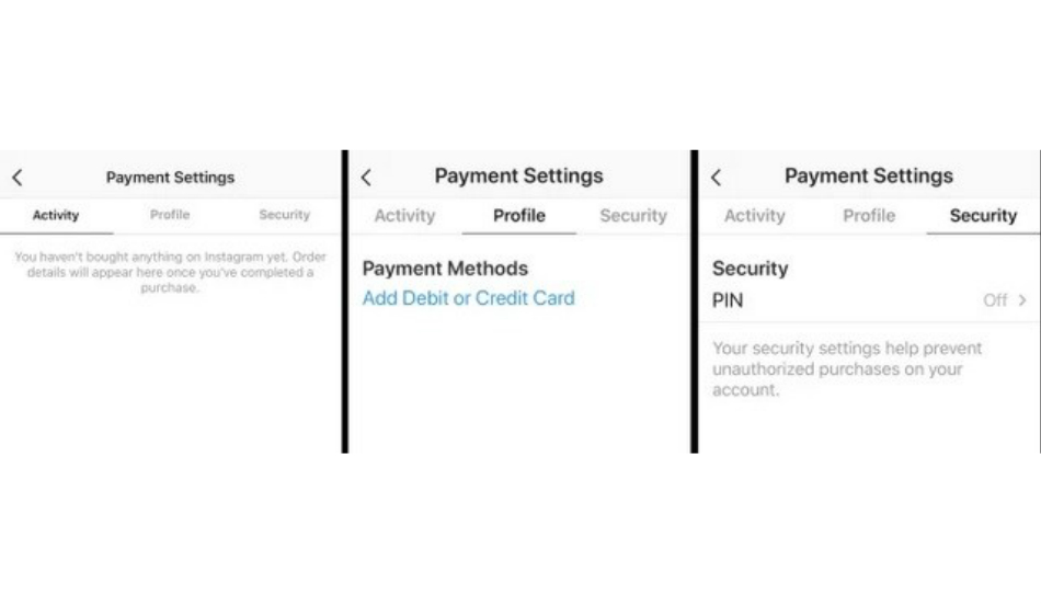 Instagram In-App Payments