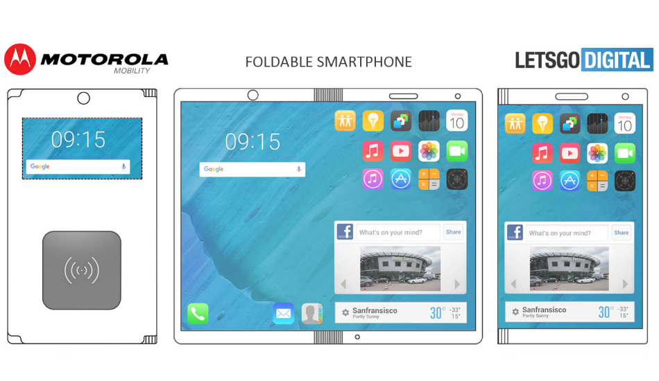 Motorola foldable phone patent
