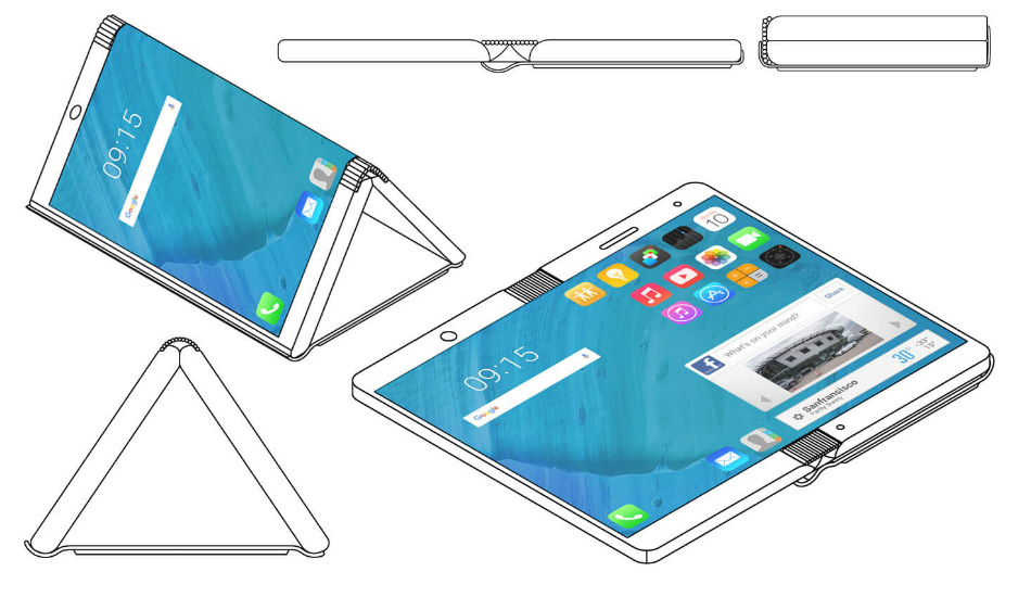 Motorola Granted Patent For Foldable Smartphone Concept That Opens Into A Tablet