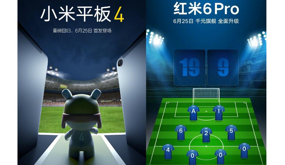 Mi Pad 4 & Redmi 6 Pro