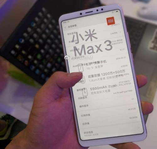 Xiaomi Mi Max 3 revealed ahead of official announcement