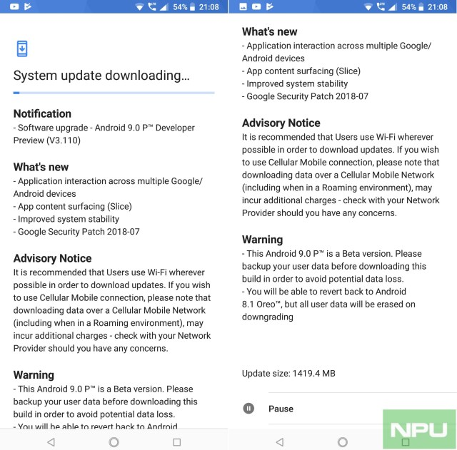 Nokia 7 Plus Android P Beta Developer Preview 4