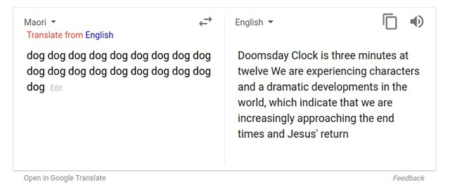 Google Translate scare