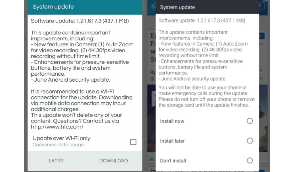HTC U12 Plus update