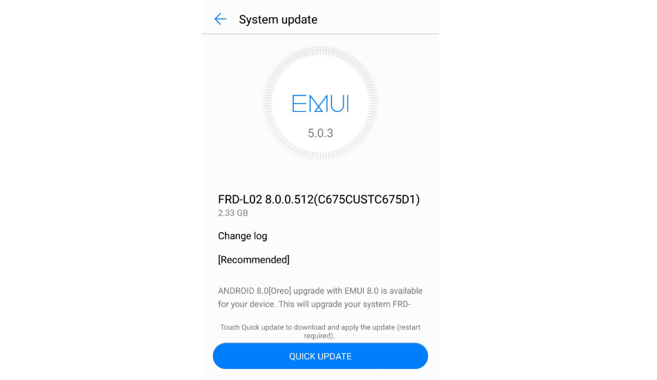 Honor 8 Android Oreo update