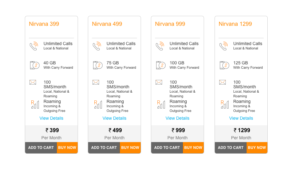 Idea Nirvana Postpaid plans