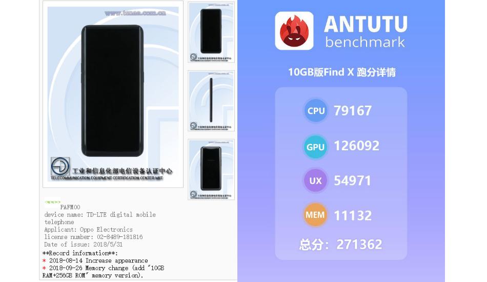 Oppo Find X 10GB RAM