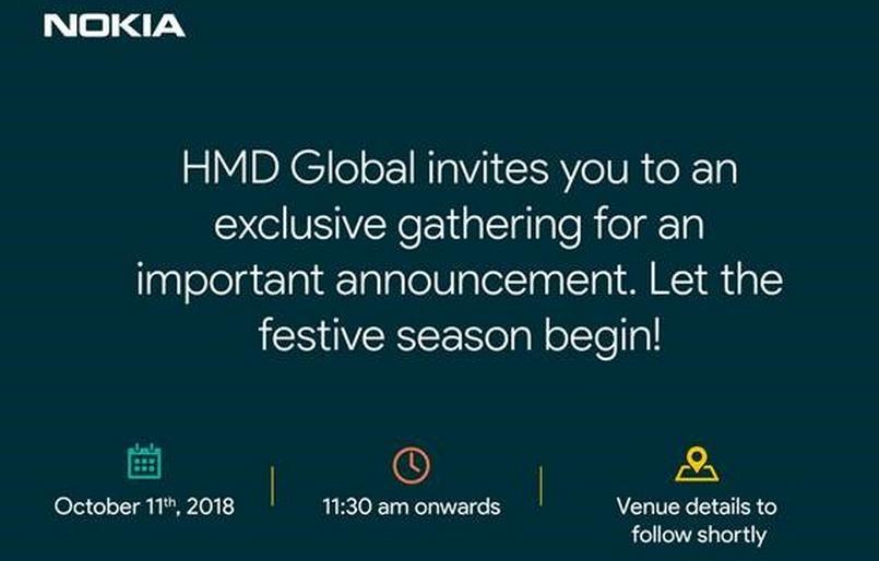 HMD Global October 11 India