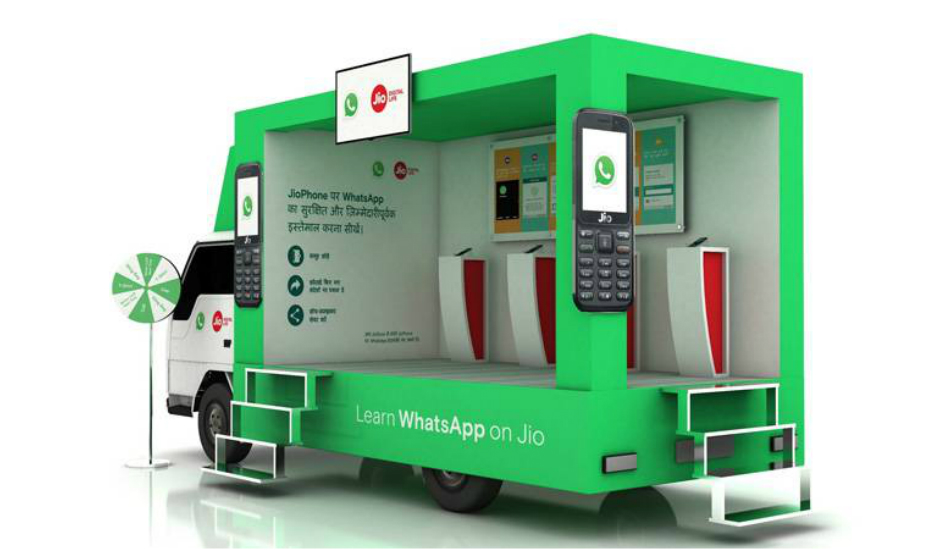 WhatsApp, Reliance Jio campaign