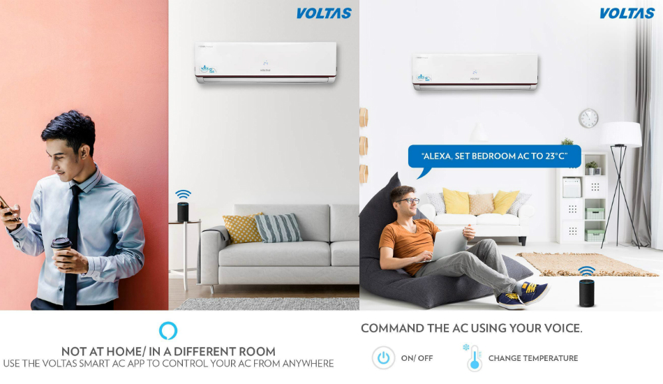 Voltas introduces Smart ACs with Alexa voice integration